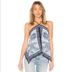 Joie Damesha Paisley Silk Handkerchief Tank